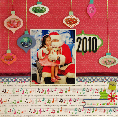 Ornaments, santa, scrapbooking, shaker boxes