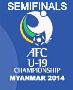 Jadwal & Hasil Pertandingan Babak Semifinal Piala Asia U-19 2014 Myanmar