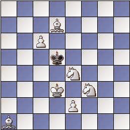 Problema de mate en 4 de Josep-Salvi Fàbregas i Domingo, 1865