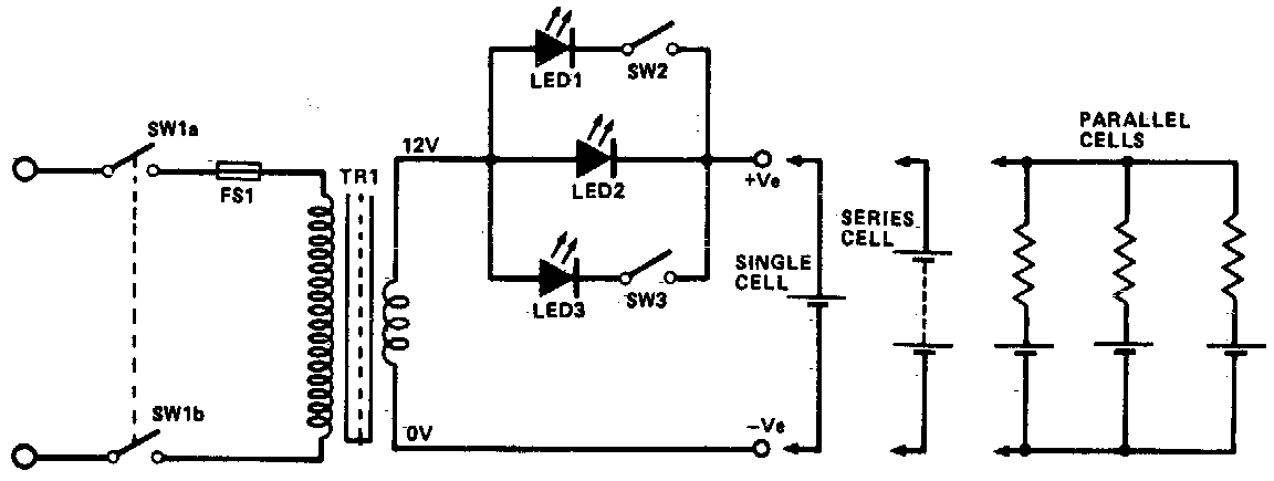 Simple Ni-cad charger Circuit Diagram