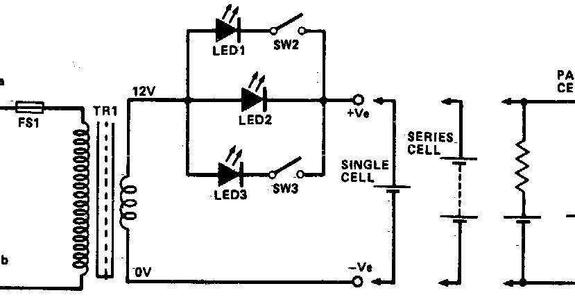 simple ni cad charger circuit diagram