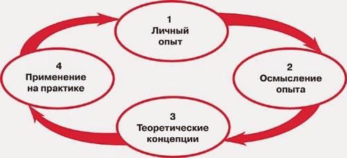 Предлагаемый алгоритм коучинга основан на надёжной модели цикла обучения по Д.Колбу