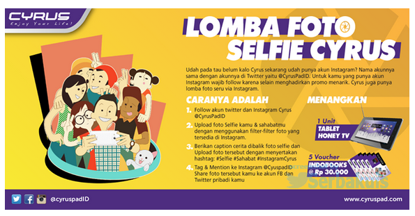 Kontes Foto Selfie Berhadiah Tablet Cyrus Honey TV