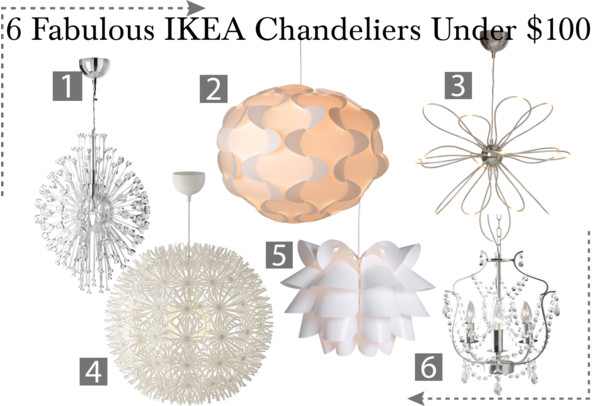 It's time for another round of under $100 picks! This week's weekly picks  is all about IKEA Chandeliers! If you are looking for a instant way to give  your ... - Behind The Big Green Door: BBGD Picks: 6 Fabulous IKEA Chandeliers