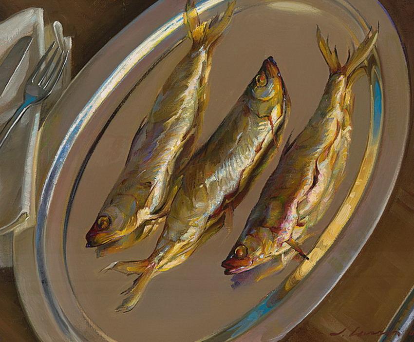 Im genes arte pinturas cinco cuadros de bodegones con for Cuadros con peces