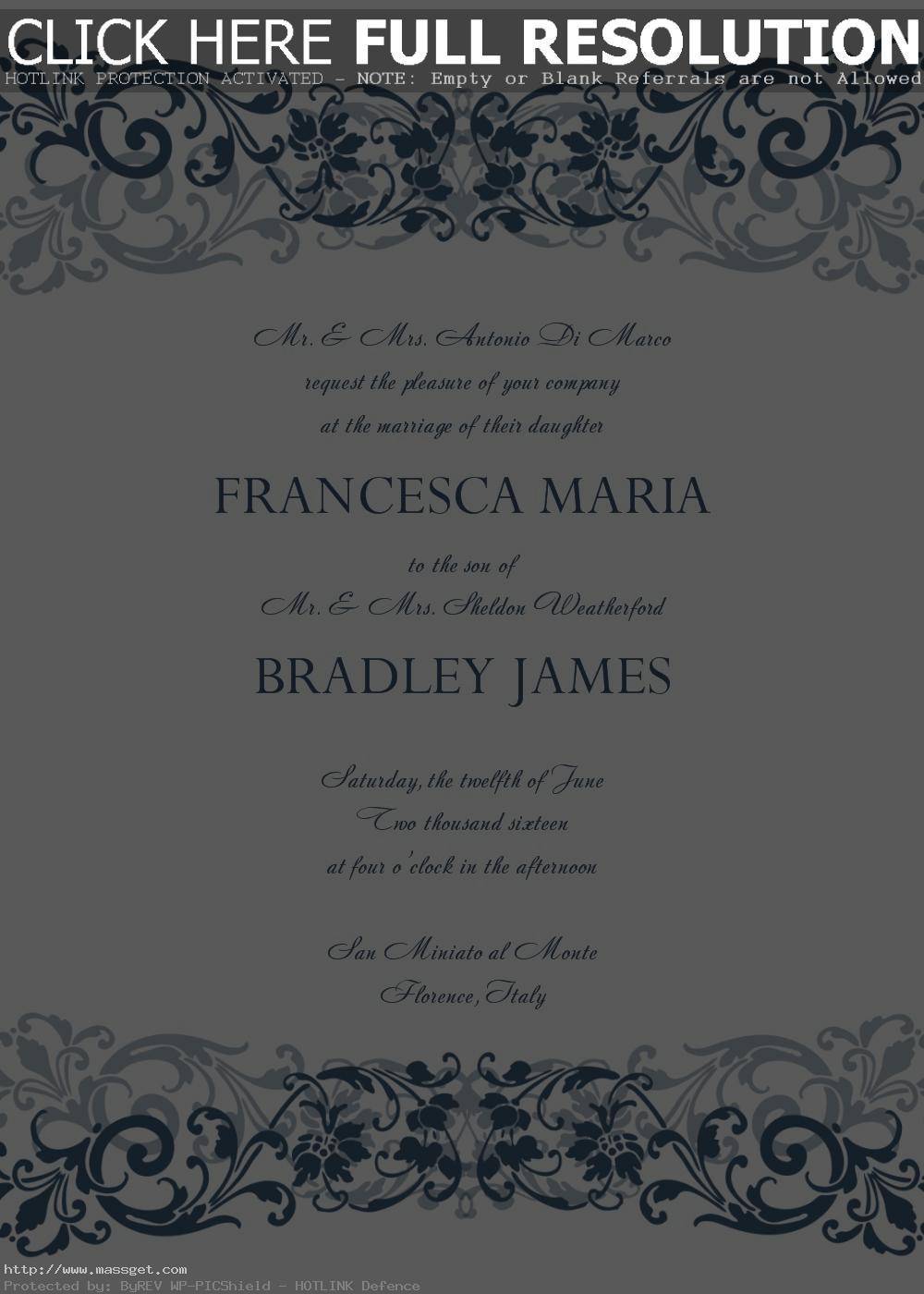 Silver Wedding Invitations: free wedding invitation templates