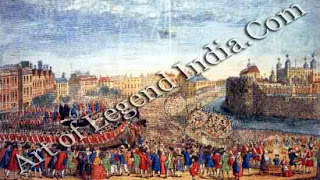 Exciting spectacle, Public executions were one of London's greatest attractions as this engraving of The Beheading of the Rebel Lords in 1746 shows.