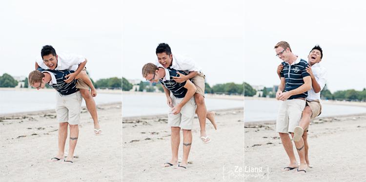 same-sex engagement session castle island boston ben&justin 14