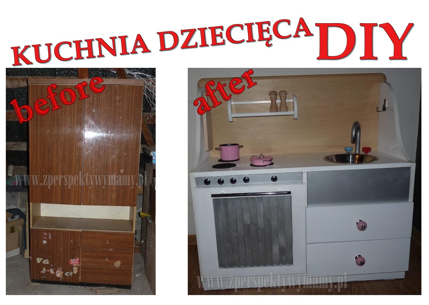 Z perspektywy mamy Kuchnia dla dzieci DIY -> Kuchnia Drewniana Dla Dzieci Diy