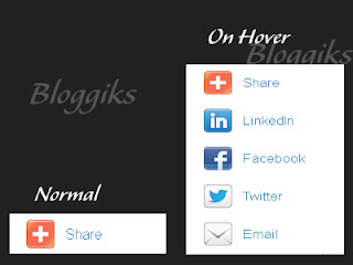 Floating Social Bookmarking Slide Out Widget for Blogger