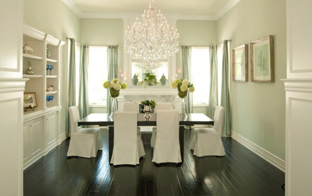 Crystal Chandelier For Dining Room contemporary glass chandeliers dining room A Stunning Large Chandelier Is Such A Pretty Touch In This Stately Elegant And Tone On Tone Room Alexandra Rae