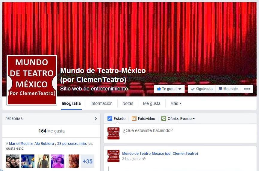 Mundo de Teatro México (por ClemenTeatro) Fan Page en FB