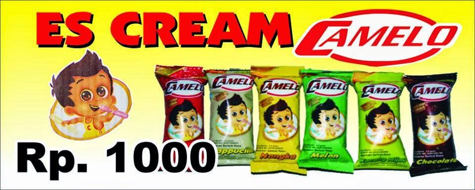 HARGA JUAL ES CAMELO Rp 1.000,- PER SE