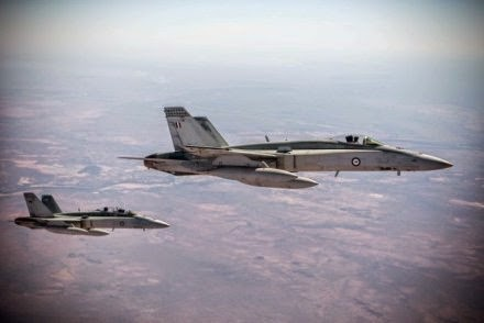 Jet temput Super Hornet Australia menyelesaikan misi pertamanya di Irak