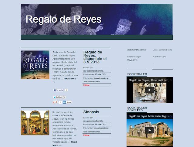 regalo de reyes, jesus zamora bonilla, ediciones tagus, booktrailer, ebook, libro electrónico, novela histórica