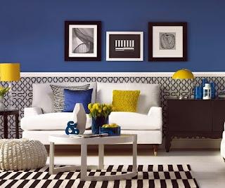 sala con colores vivos