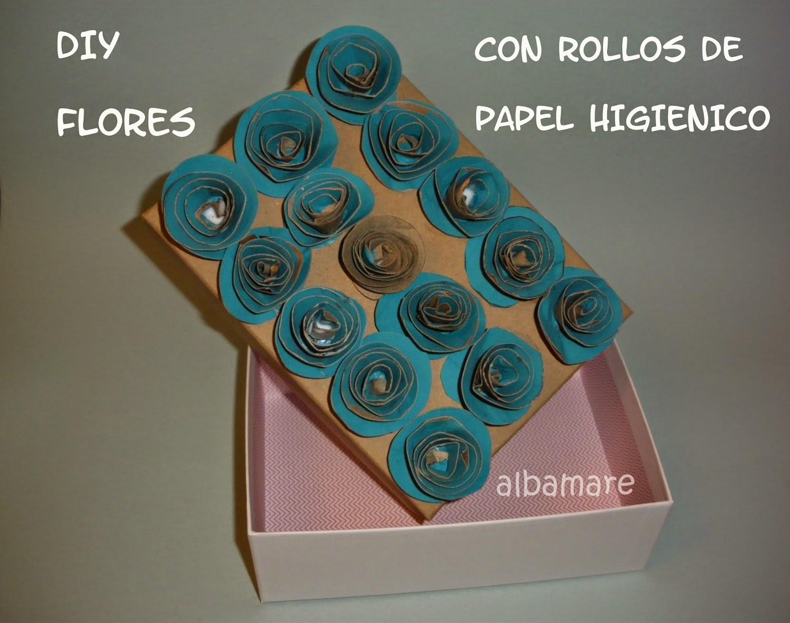 http://albamaremanualidades.blogspot.com/2015/05/diy-flores-con-rollos-de-papel.html