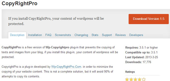 Wordpress plugin to stop plagiarism