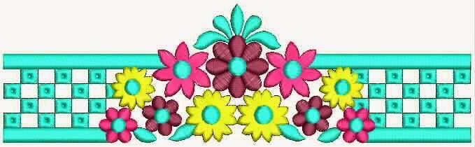 Multi kleur kombinasie Kant grens