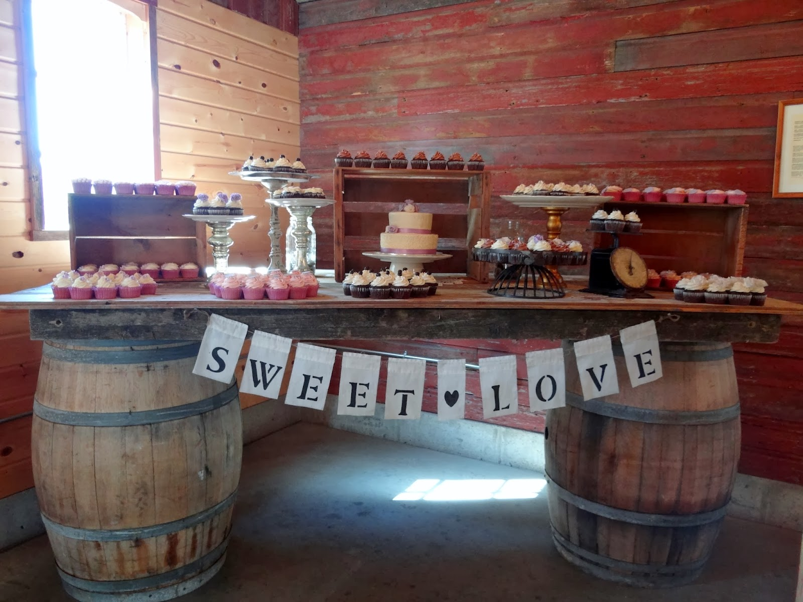 Libby s Cupcakes Etc Lavender Rustic Wedding Cake and