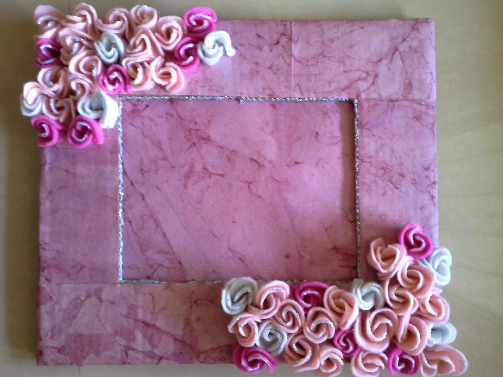 DREAMZ HANDMADE CARDS: Pink Roses Photo Frame...