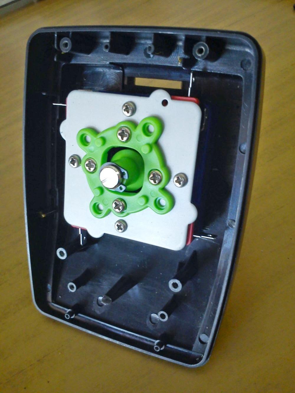joystick Sidewinder con palanca arcade - interior