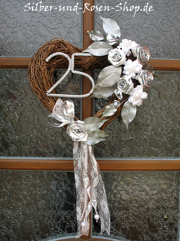 silber rosen neues im silber und rosen shop t rschmuck t rkranz goldene hochzeit. Black Bedroom Furniture Sets. Home Design Ideas