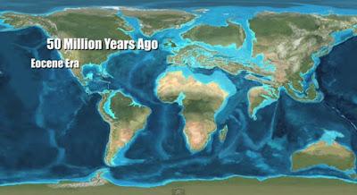 Paleo mapa del Eoceno