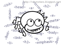 web spider with html tags