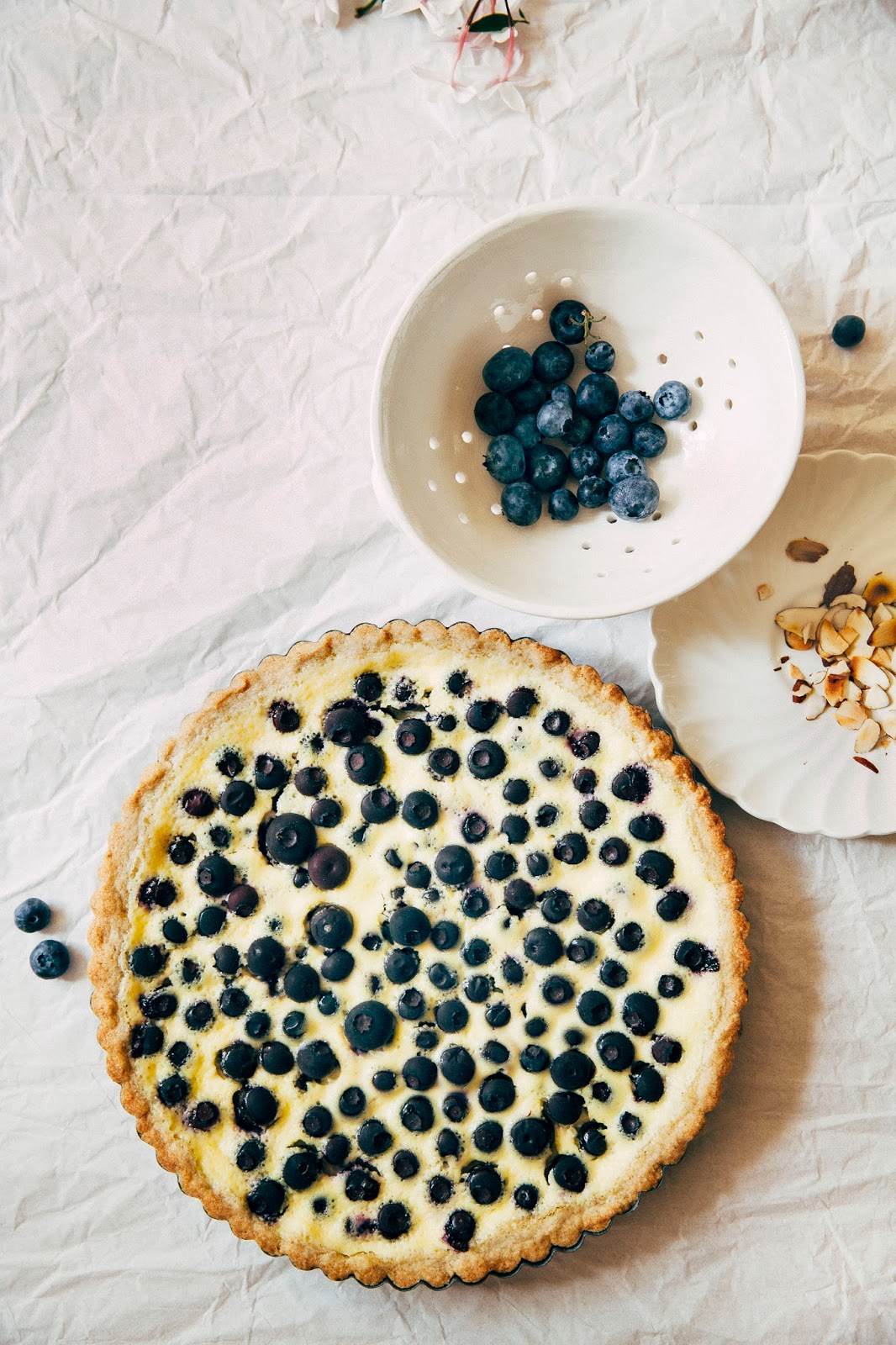 Nordic Blueberry Almond Custard Tart with a Rye Shortbread Crust ...