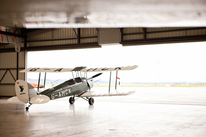 cute vintage airplane engagement shoot by STUDIO 1208