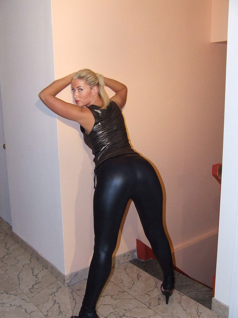 pants big in butts leather milf sexy