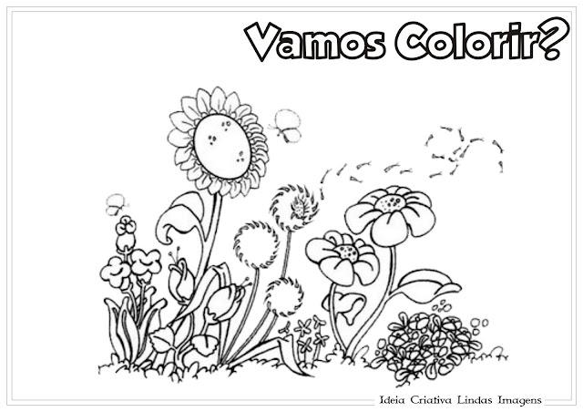 Desenho de Meio Ambiente para colorir
