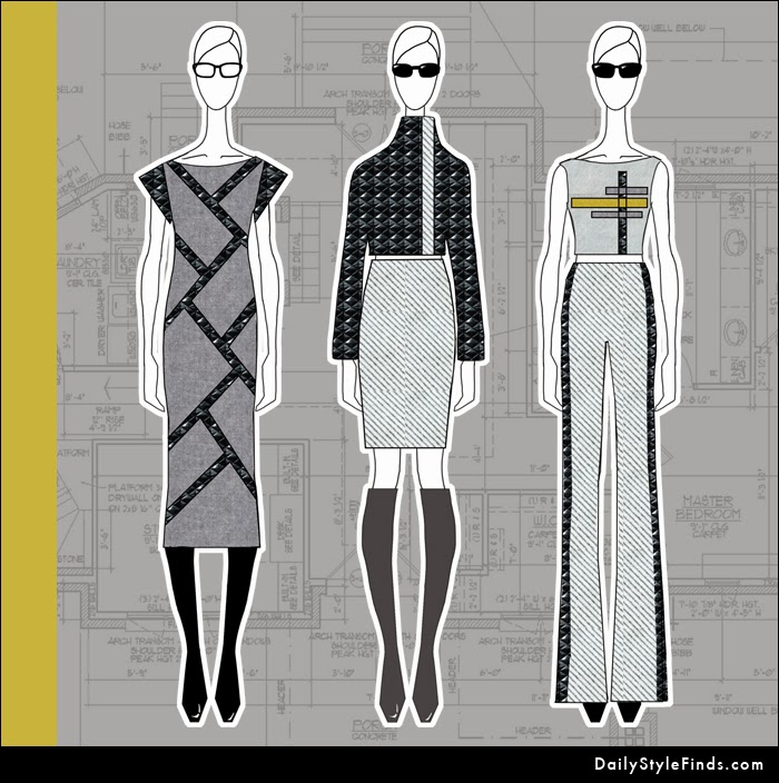 fashion design, fashion illustration, over the knee boots, OTK boots, skinny pants, pencil skirt, quilted leather, quilted faux leather, shift dress, leather shift dress