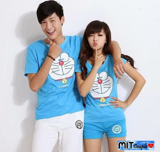 Cp Doraemon (biru) , kemeja couple