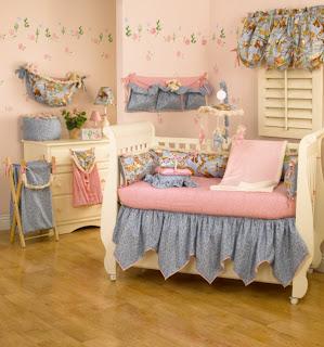 habitación bebé celeste rosa