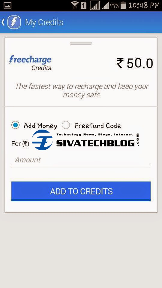 Free Recharge From Freecharge Android App