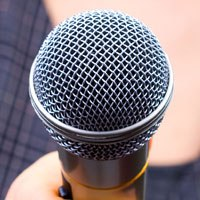 microphone to voice your views