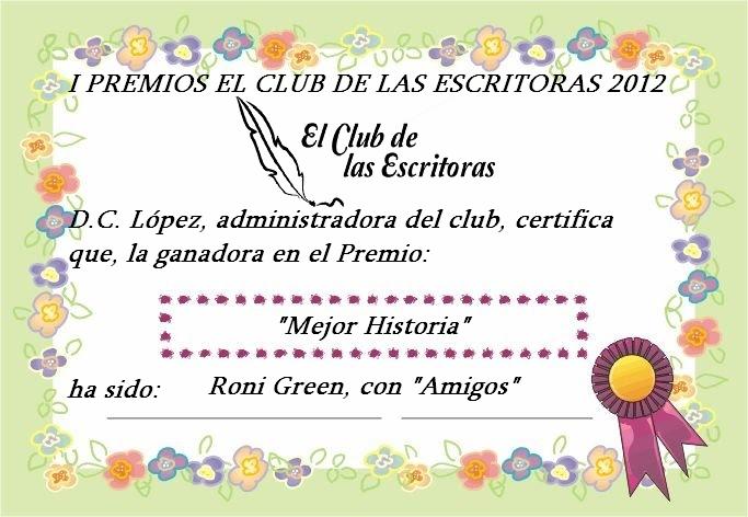 ENTREGA DE DIPLOMAS A LAS GANADORAS DEL I PREMIO EL CLUB DE LAS