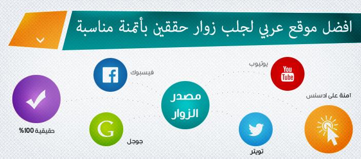 افضل موقع عربي لجلب زوار حققين بأتمنة مناسبة