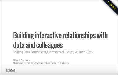 Talking data: Building interactive relationships with data and colleagues