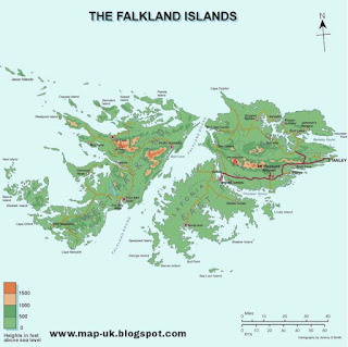 Falkland Islands Region and Political Map
