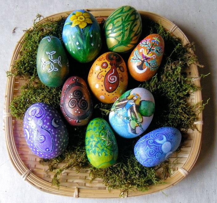 Ostara Ovos decorados