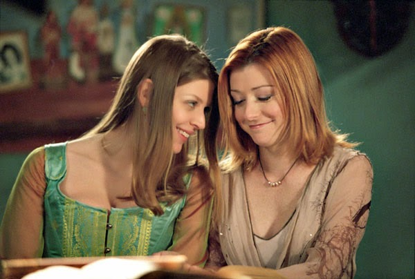Willow y Tara de Buffy