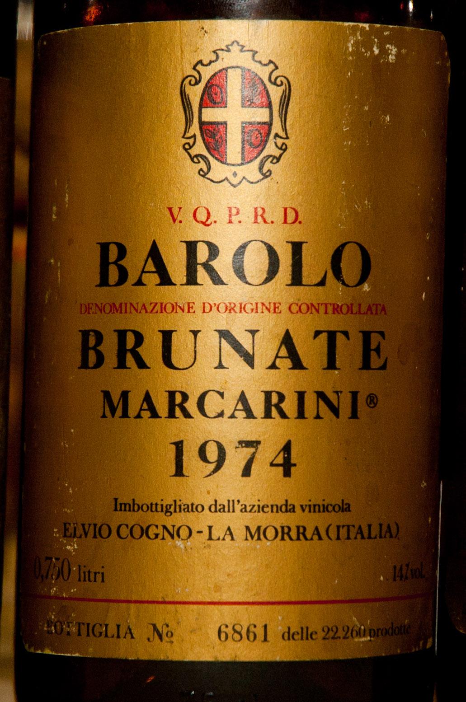 Brunate Barolo Vineyard 1974 Marcarini Barolo Brunate