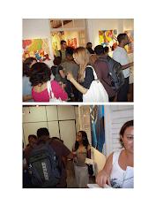 detalhe  da  Exposição  de  Artes  Visuais  de  Fátima  Soar e  Marlene  Martins