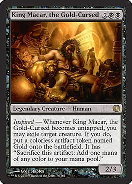 MtG expansion Journey into Nyx black legend King Midas