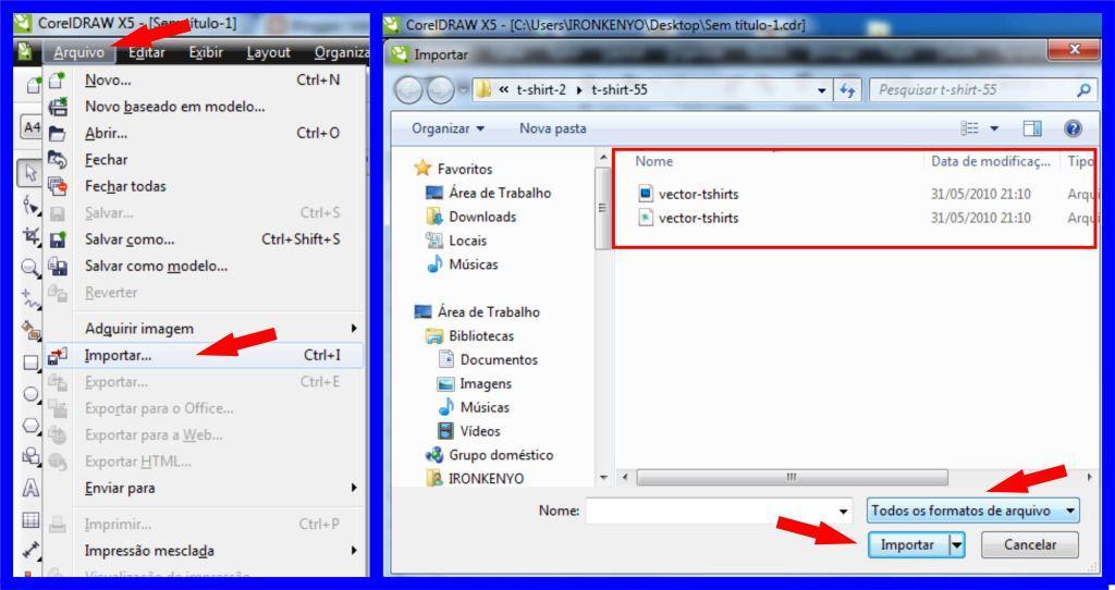 Como abrir arquivos nos formatos ESP PSD e AI pelo Corel Draw