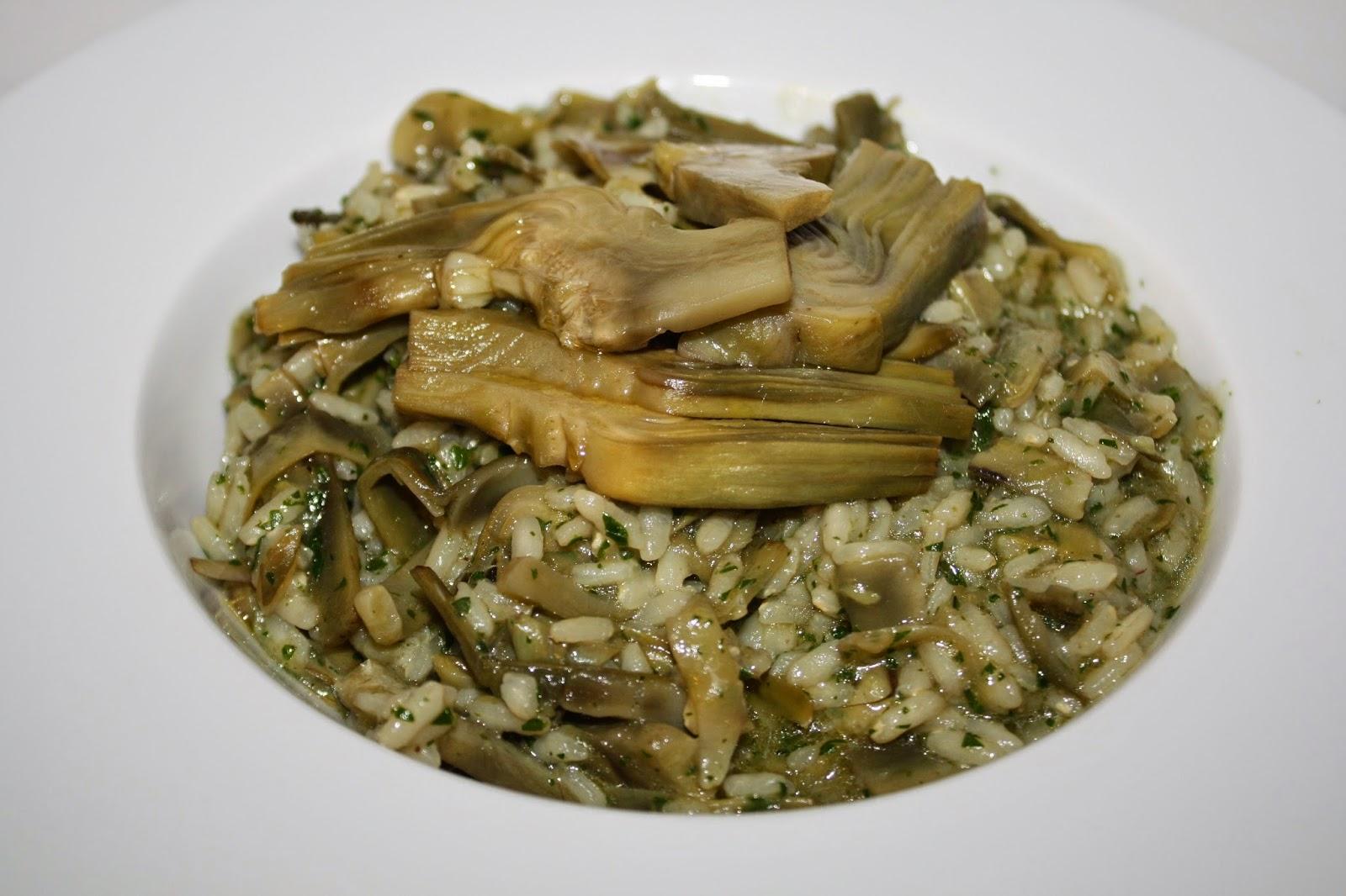 ricetta risotto con carciofi