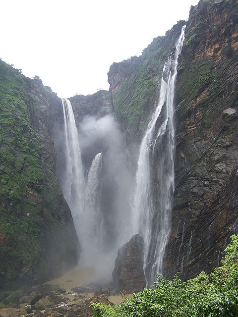 Low Flowing During Summer Jog Falls - Karnataka